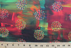 Cotton Flora Bowley Illuminate Red Cotton Fabric Print by the Yard D772.37