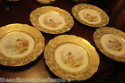 ANTIQUE c1890s R. DELINIERES - D&C Limoges, France, 5 transfer angel plates[2al]