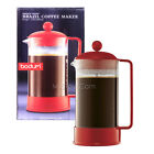NEW Bodum Brazil Coffee Maker Shatterproof 8 Cup 34 0z French Press Elegant Red