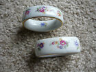TWO NAPKIN RINGS/PM FINE CHINA/GDR/GERMANY