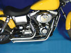 Chrome 2 1 4 Street Sweepers Exhaust Drag Pipes Harley Dyna FXD Bobber Chopper