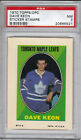 1970-71 TOPPS OPC STICKER STAMPS DAVE KEON PSA GRADED NM 7 TORONTO