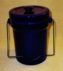 Heavy Cobalt Blue Stoneware Crock / Cannister - Very Nice!