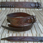Hand Tooled Western Leather Gun Ammo belt