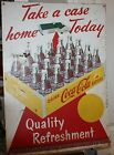 Coca cola tin 50's sign