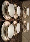 Vintage Elysian (8 Cup & Saucer Sets) Hand Painted Gold Gild Field Japan.