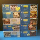 LOT of 10 Charles Wysocki Americana Complete 1000 Piece Jigsaw PUZZLES Holidays