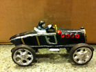 Vintage Cast Iron Race Car Possibly 20's or 30's Antique Racer Attached Driver