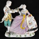 Outstanding Antique Huge Dresden German Figurine of a Courting Couple