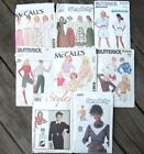 Vintage McCall's,BUTTERICK, SIMPLICITY, STYLE Sewing Patterns 80s Lot of 8