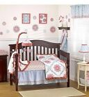 Co Ca Lo Pink And Blue Girls 6 Piece Crib Bedding Set Dahlia Collection