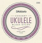 DAddario J53 Strings Black Nylon Hawaiian Concert Ukulele Strings Set 4 Strings