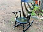 VINTAGE Hitchcock style BOSTON ROCKER rocking CHAIR porch NURSERY home QUALIT