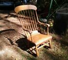 ANTIQUE 1850s PERIOD Boston ROCKER rocking CHAIR beautiful WOOD patina PRIMITIVE