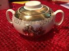 Vintage Crest-O-Gold Sabin 22k Sugar Bowl Warroned 6 1/2