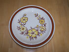 Homer Laughlin USA MOUNTAIN MEADOW Vintage Set of 4 Dinner Plates Brown Yellow