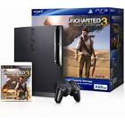 Sony PlayStation 3 Slim Uncharted 3 320 GB Charcoal Black Console (NTSC)
