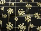 Beautiful Snowflake Blue & Silver Christmas Winter Fabric 3 Yards 60