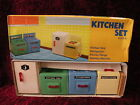 Christmas Gift Miniature Kitchen Set appliances NEW 4pc MINT VTG Red China MM057