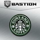 TACTICAL COMBAT BADGE MORALE VELCRO MILITARY PATCH GUNS AND COFFEE