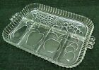 Depression Glass Cocktail Snack Relish Dish Tray Platter 5 Sections Fruits Grape