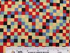 Colorful Checked Quilting Fabric Red Rooster Fabrics Cotton Fabric   BTY (N3)  #
