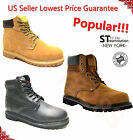 LM Mens Winter Snow Boots Work Boots Water Resistant Genuine Leather 6011