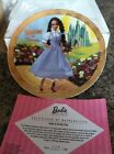 Enesco BARBIE As DOROTHY Limited Edition  Collectors Plate Wizard Of Oz NIB Cert