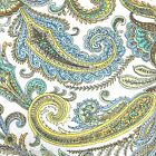 NICOLE MILLER PAISLEY QUEEN QUILT 3pc SET reversible FLORAL TEAL BLUE YELLOW