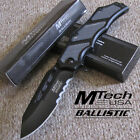 MTech Ballistic - Carbon Fiber Inlays -Tactical SPRING Assisted Folding KNIFE