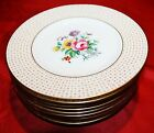 9 Royal Cauldon England Gold Dessert / Bread & Butter Plates V3483