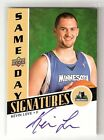 KEVIN LOVE 08 09 upperdeck same-day signatures on card auto rookie #RPS-KL