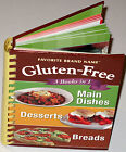 Gluten Free 3 Books in 1: Main Dishes, Desserts, Breads Hardcover Spiral NEW