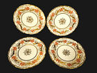 SET OF SIGNED ROYAL CHELSEA HAND PAINTED PORCELAIN DESSERT PLATES – CIRCA 1945