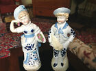 ANTIQUE EUROPEAN PORCELAIN MAN AND WOMAN BEAUTIFULLY HAND PAINTED