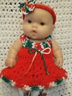 Clothes For 10 Inch Berenguer Reborn Doll Holiday Dress Set