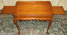 VINTAGE Henkel Harris Cherry Recessed Top Tea/ Serving Table,Pull Out Shelves