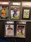 LIONEL MESSI 2004 71 PANINI MEGACRACKS And 4 Other Cards W BGS 9 Neymar
