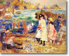 Renoir  Beach Scene, Guernsey 36 x 24 Stretched Canvas Giclee Art Repro NR