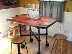 Antique Industrial Dining / Restaurant Pub /Bistro Table Repurposed Steampunk