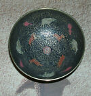 Vintage ~Jerusalem Solid Cast Brass Painted /Etched Small Bowl W/ Animals On It