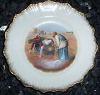 Early 1900's  W.H. Tatler Decorating Co. Wheat Harvest Plate w/ Gold Trim