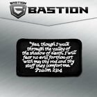 TACTICAL COMBAT BADGE MORALE VELCRO MILITARY PATCH PSALM 23:4 BNW