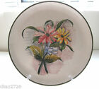VTG. NUMBERED, SIGNED  & MARKED ITALIAN FLORAL DECORATIVE PLATE
