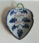 NICE SEVRES FRENCH PORCELAIN LEAF DISH, COBALT ENAMELED DECORATION
