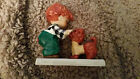 Rare 1958 Hummel Goebel Little Red Haired Boy Dog Puppy Germany Hugging Play