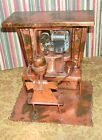 Old~  Music Box Copper Metal Art Sculpture Piano Player