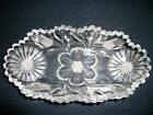 Etched Glass Pickle or Condiment Dish 7.75