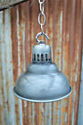 SMALL VENTED STEAMPUNK ANTIQUED STEEL CEILING LIGHT SHADE LAMP WITH CHAIN SV1NC