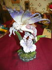 9 Inch Sexy Winged Fairy In Flower Statue Figurine Figure Fantastic detail